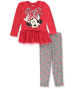 Minnie Mouse Little Girls' Toddler 2-Piece Outfit (Sizes 2T – 4T) - CookiesKids.com