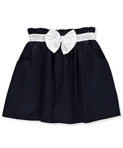 Cherokee Little Girls' Twill Scooter Skirt with Bow (Sizes 4 – 6X) - CookiesKids.com