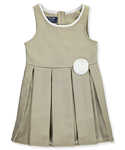 Cherokee Little Girls' Pleated Jumper with Rosette (Sizes 4 – 6X) - CookiesKids.com