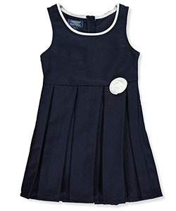 Cherokee Big Girls' Pleated Jumper with Rosette (Sizes 7 – 16) - CookiesKids.com
