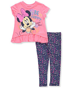 Disney Minnie Mouse Girls' 2-Piece Outfit (Sizes 2T – 4T) - CookiesKids.com