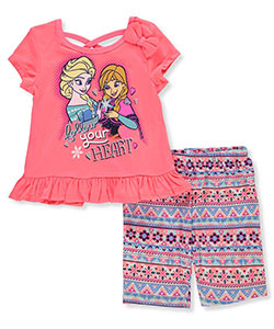 Disney Princess Girls' 2-Piece Outfit with Elsa and Anna - CookiesKids.com