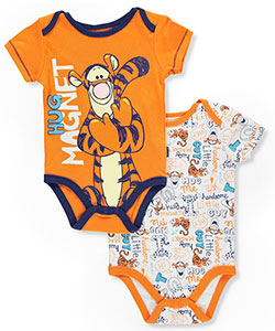 Disney Winnie the Pooh Baby Boys' 2-Pack Bodysuits featuring Tigger - CookiesKids.com