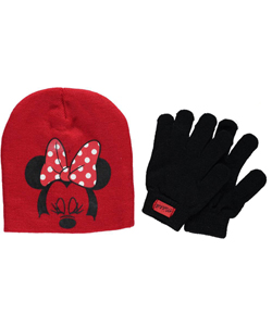 "Minnie Mouse ""Blink"" Beanie & Gloves Set (Toddler One Size) - CookiesKids.com"
