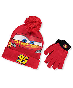 Disney Cars Boys' Beanie & Gloves Set (Youth One Size) - CookiesKids.com
