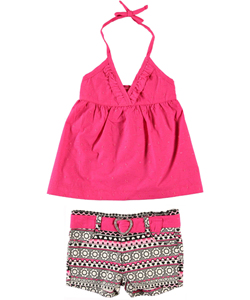 "Penny M ""Bumble Flower"" 2-Piece Outfit (Sizes 4 – 6X) - CookiesKids.com"