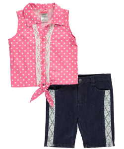 "Penny M Big Girls' ""Sweetheart Style"" 2-Piece Outfit (Sizes 7 – 16) - CookiesKids.com"