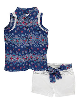 "Penny M Little Girls' ""Floral Embrace"" 2-Piece Outfit (Sizes 4 – 6X) - CookiesKids.com"