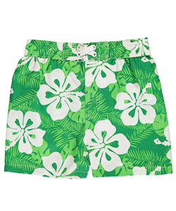 "Mick Mack Baby Boys' ""Flowered Tropics"" Boardshorts - CookiesKids.com"