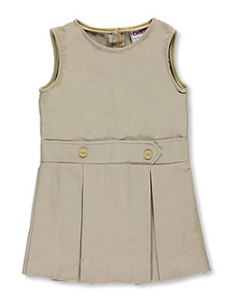 "French Toast Little Girls' ""Button Tab"" Jumper (Sizes 4 – 6X) - CookiesKids.com"