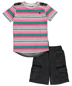 "Blac Label Little Boys' Toddler ""Chambray Tabbed"" 2-Piece Outfit (Sizes 2T – 4T) - CookiesKids.com"