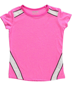 "Layer 8 Big Girls' ""Mesh Corner"" Performance T-Shirt (Sizes 7 – 16) - CookiesKids.com"