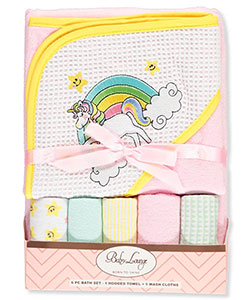 Baby Lounge Baby Girls' 6-Piece Bath Set - CookiesKids.com