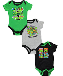 "TMNT Baby Boys' ""Tiny & Tough"" 3-Pack Bodysuits - CookiesKids.com"
