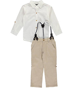 "City Ink Little Boys' Toddler ""Gold Coast"" 2-Piece Outfit (Sizes 2T – 4T) - CookiesKids.com"