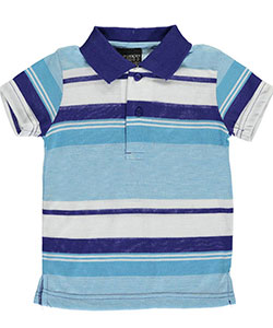 "City Ink Baby Boys' ""Horizon"" Knit Polo Shirt - CookiesKids.com"