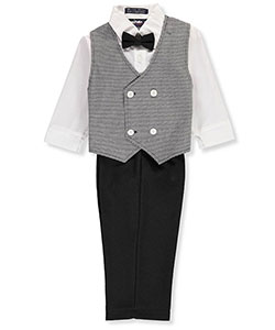 Happy Fella Baby Boys' 4-Piece Vest Set - CookiesKids.com