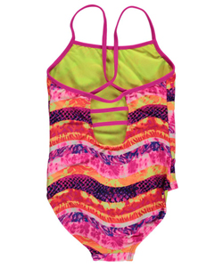"Breaking Waves Big Girls' ""Wavy Stripe Butterfly"" 1-Piece Swimsuit (Sizes 7 – 16) - CookiesKids.com"