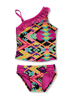 "Breaking Waves Little Girls' ""Art Fair"" 2-Piece Tankini (Sizes 4 – 6X) - CookiesKids.com"