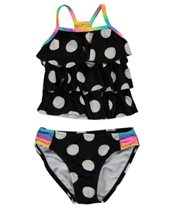 "Breaking Waves Little Girls' ""Poolside"" 2-Piece Tankini (Sizes 4 – 6X) - CookiesKids.com"