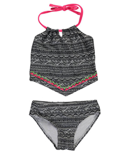 "Breaking Waves Little Girls' ""Dive In"" 2-Piece Tankini (Sizes 4 – 6X) - CookiesKids.com"