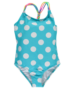 "Breaking Waves Big Girls' ""Free Swim"" 1-Piece Swimsuit (Sizes 7 – 16) - CookiesKids.com"