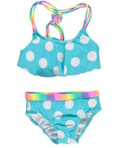 "Breaking Waves Big Girls' ""Cloud 9"" 2-Piece Bikini (Sizes 7 – 16) - CookiesKids.com"