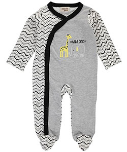 "Chick Pea Unisex Baby ""Pair of Wild Ones"" Footed Coverall - CookiesKids.com"