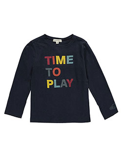 "Pearls & Popcorn Little Boys' ""Time to Play"" Top (Sizes 4 – 7) - CookiesKids.com"