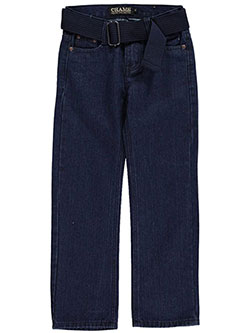 "Chams Little Boys' ""Southbound"" Belted Jeans (Sizes 4 – 7) - CookiesKids.com"