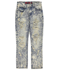"GS-115 Big Boys' ""Mineral Washed' Slim Fit Jeans (Sizes 8 – 20) - CookiesKids.com"