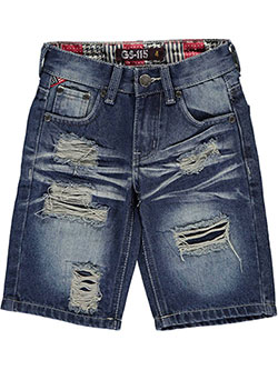 "GS-115 Little Boys' ""Rainier"" Denim Shorts (Sizes 4 – 7) - CookiesKids.com"
