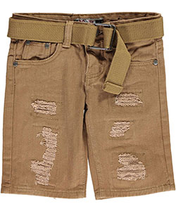 "GS-115 Little Boys' ""Nassau"" Belted Shorts (Sizes 4 – 7) - CookiesKids.com"