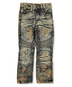 "GS-115 Little Boys' ""Tinted Panel"" Jeans (Sizes 4 – 7) - CookiesKids.com"