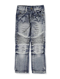 "GS-115 Little Boys' ""Paneled Ice Wash"" Jeans (Sizes 4 – 7) - CookiesKids.com"