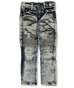 "GS-115 Little Boys' ""Paneled Vintage"" Jeans (Sizes 4 – 7) - CookiesKids.com"