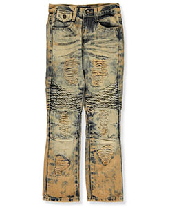 "GS-115 Big Boys' ""Tinted Panel"" Jeans (Sizes 8 – 20) - CookiesKids.com"