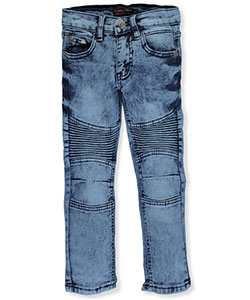"Chams Little Boys' Toddler ""Pleated Fade"" Jeans (Sizes 2T – 4T) - CookiesKids.com"