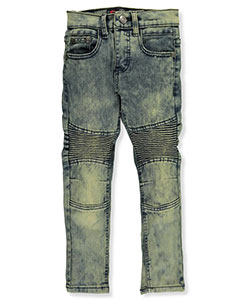 "Chams Little Boys' ""Pleated Fade"" Jeans (Sizes 4 – 7) - CookiesKids.com"
