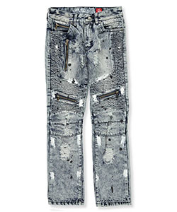 "GS-115 Big Boys' ""Spotted Pleats"" Jeans (Sizes 8 – 20) - CookiesKids.com"