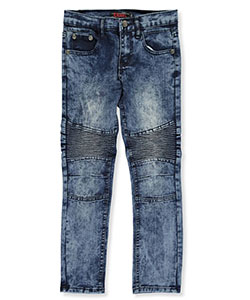 "Chams Big Boys' ""Pleated Fade"" Jeans (Sizes 8 – 20) - CookiesKids.com"