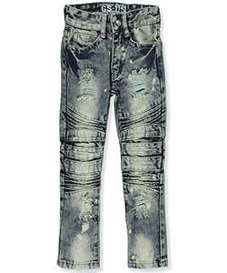"GS-115 Little Boys' ""Stripped Denim"" Jeans (Sizes 4 – 7) - CookiesKids.com"