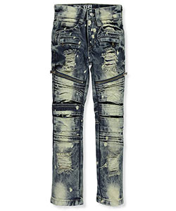 "GS-115 Little Boys' ""Spotted Pleats"" Jeans (Sizes 4 – 7) - CookiesKids.com"