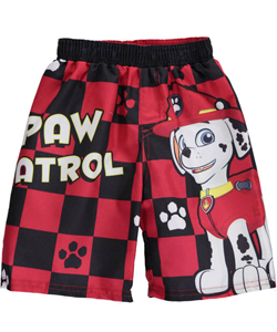 "Paw Patrol Little Boys' Toddler ""Paw Plaid"" Swim Trunks (Sizes 2T – 4T) - CookiesKids.com"