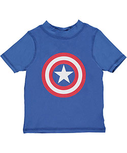 "Marvel Little Boys' Toddler ""Shielded Patriot"" Rash Guard (Sizes 2T – 4T) - CookiesKids.com"