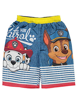 "Paw Patrol Little Boys' Toddler ""Striped Fence"" Swim Trunks (Sizes 2T – 4T) - CookiesKids.com"
