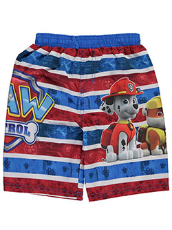 "Paw Patrol Little Boys' Toddler ""Striped Paws"" Swim Trunks (Sizes 2T – 4T) - CookiesKids.com"