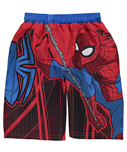 "Spider-Man Little Boys' Toddler ""Webbed Static"" Swim Trunks (Sizes 2T – 4T) - CookiesKids.com"