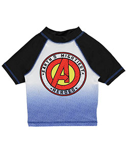 "Marvel Little Boys' ""Earth's Mightiest Heroes"" Rash Guard (Sizes 4 – 7) - CookiesKids.com"