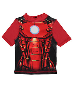 "Marvel Little Boys' ""Chest Mechanics"" Rash Guard (Sizes 4 – 7) - CookiesKids.com"